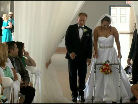 An Absolute Miracle Paralyzed Bride Walks Down The Aisle