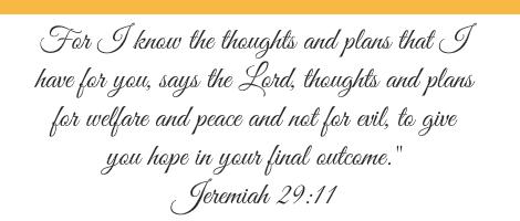 Jeremiah 29 v 11