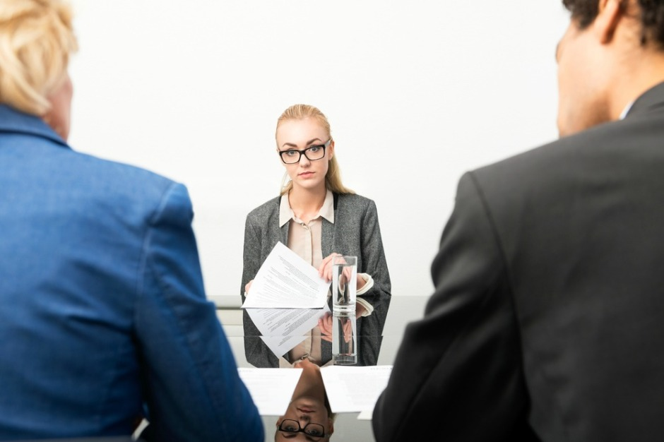 applicant nervous in front of interview panel