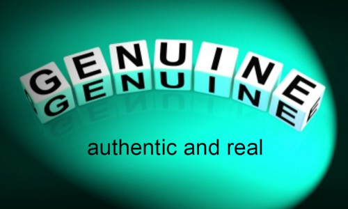 Genuine is about being authentic and real