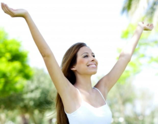 woman celebrating freedom