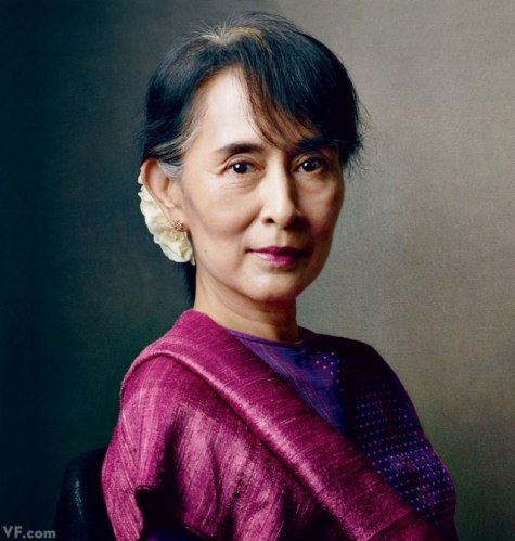 Suu Kyi (photo: Vanity Fair)