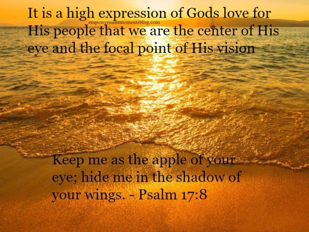 A high expression of God's love as the apple of His eye