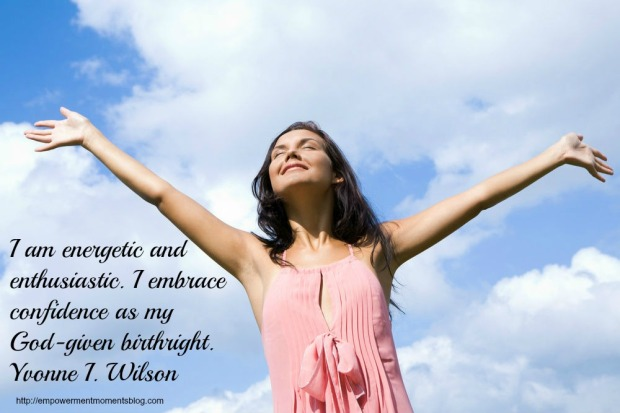affirmation-woman having inner peace and tranquility