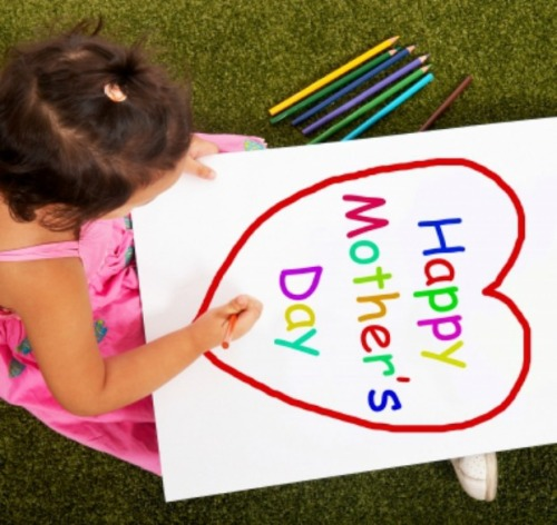 child writing happy mother's day
