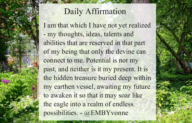 affirmation on potential