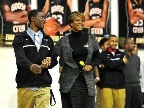 Sharonda Coleman-Singleton and son-Chris