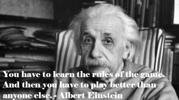 Albert Einstein quote on risk taking