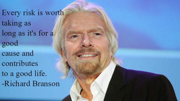 Richard Branson quote on risk taking