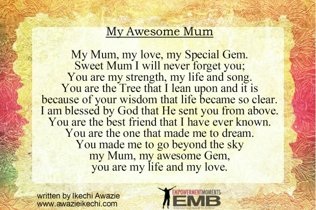 My Awesome Mum by - Ikechi Awazie