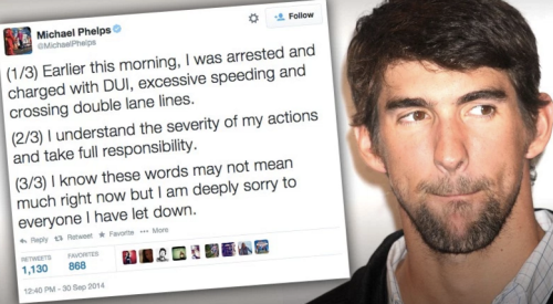 Screen-Shot of Michael Phelps confession